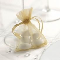 Gold Organza Favour Bags (10)